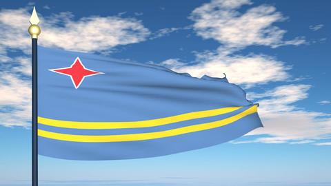 Flag Of Aruba Animation
