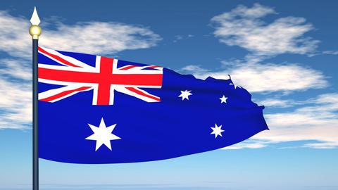 Flag Of Australia Stock Video Footage