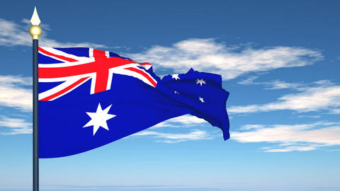 Flag Of Australia Stock Video Footage