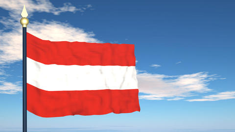 Flag Of Austria Stock Video Footage