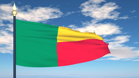 Flag Of Benin Stock Video Footage