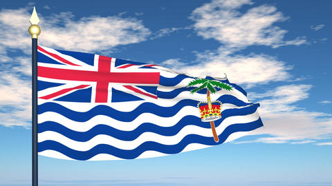 Flag Of British Indian Ocean Territory Animation