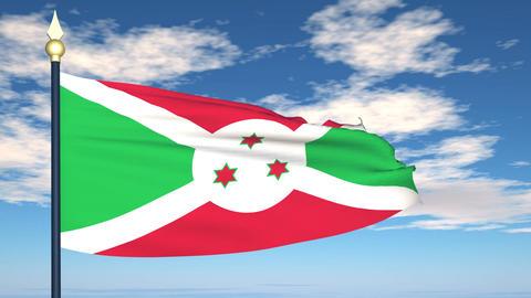 Flag Of Burundi Animation