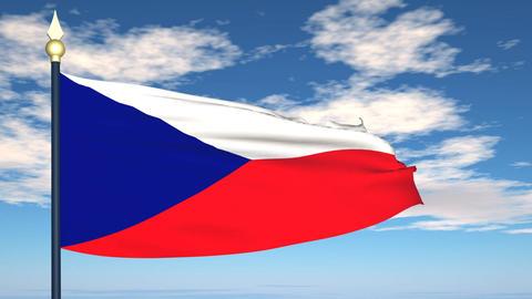 Flag Of Czechia Animation
