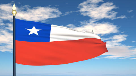 Flag Of Chile Animation