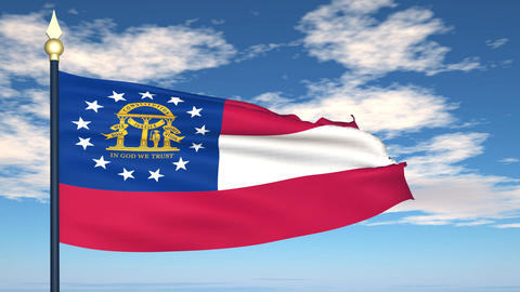 Flag of the state of Georgia USA Animation