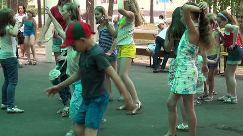 Children's disco Footage