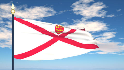 Flag Of Jersey Animation