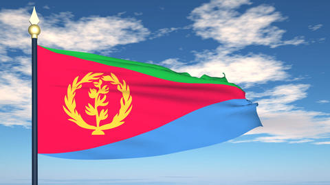 Flag Of Eritrea Animation
