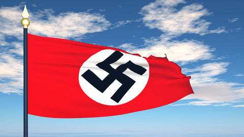 Flag Of nazi Germany Stock Video Footage