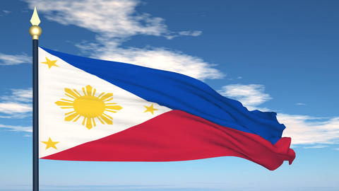 Flag Of Pilipinas Stock Video Footage
