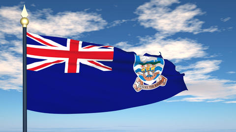 Flag Of Falkland Islands Animation