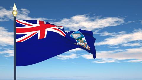 Flag Of Falkland Islands Stock Video Footage