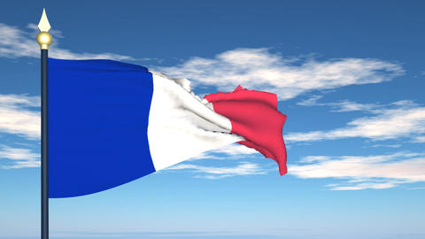 Flag Of France Stock Video Footage