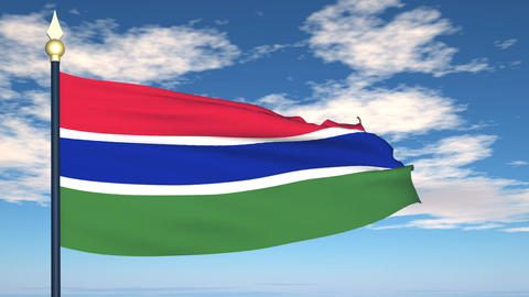 Flag Of Gambia Stock Video Footage