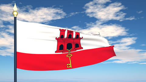 Flag Of Gibraltar Animation