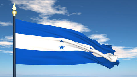 Flag Of Honduras Stock Video Footage