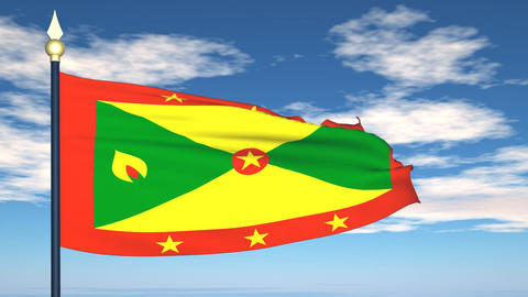 Flag Of Grenada Animation