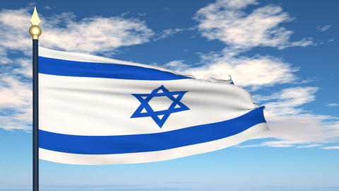 Flag Of Israel Stock Video Footage