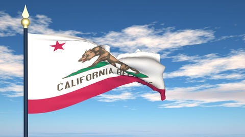 Flag of the state of California USA Stock Video Footage