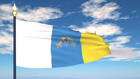 Flag Of Canarias Animation