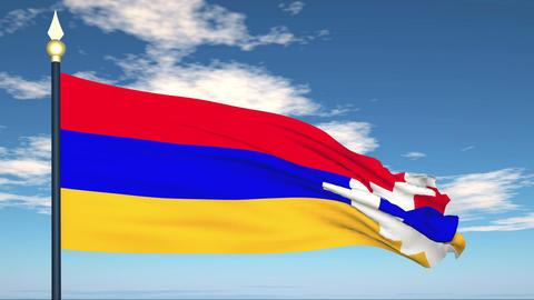 Flag Of Nagorno-Karabakh Stock Video Footage