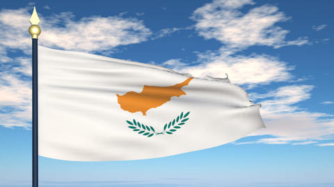 Flag Of Cyprus Stock Video Footage