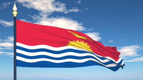 Flag Of Kiribati Stock Video Footage