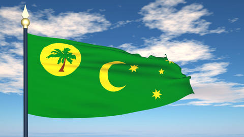 Flag Of Cocos (Keeling) Islands Animation