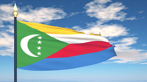 Flag Of Comoros Animation
