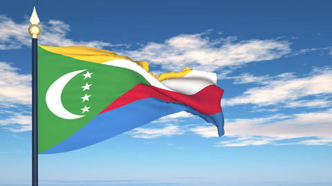 Flag Of Comoros Stock Video Footage