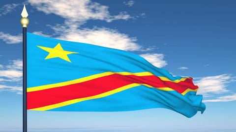 Flag Of Congo Stock Video Footage