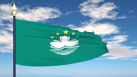Flag Of Macau Animation