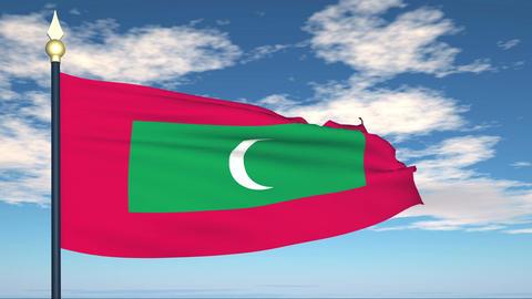 Flag Of Maldives Animation
