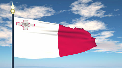 Flag Of Malta Animation