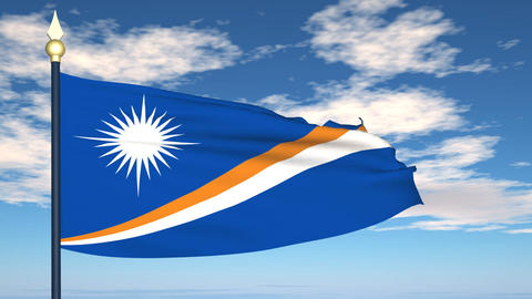 Flag Of Marshall Islands Animation