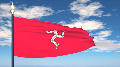 Flag Of Isle of Man Animation