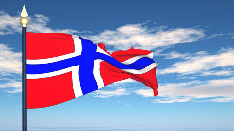 Flag Of Norway Stock Video Footage