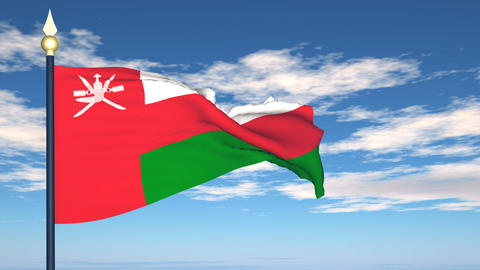 Flag Of Oman Stock Video Footage