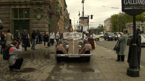 Travel antique cars Stock Video Footage