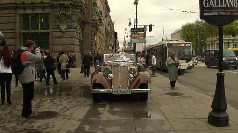 Travel antique cars Footage