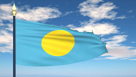 Flag Of Palau Animation