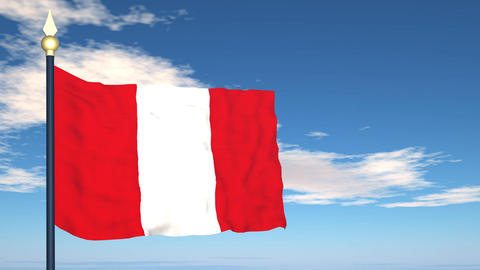 Flag Of Peru Stock Video Footage