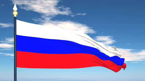 Flag Of Russia Stock Video Footage