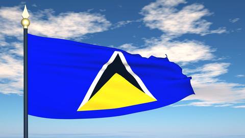 Flag Of Saint Lucia Animation