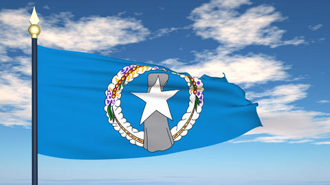 Flag Of Northern Mariana Islands Animation