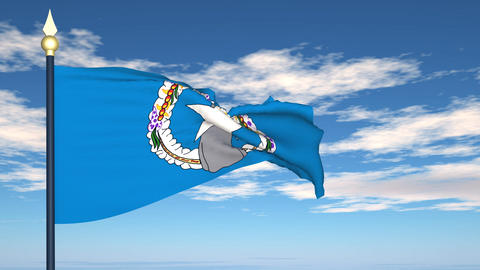 Flag Of Northern Mariana Islands Stock Video Footage