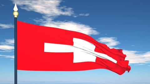 Flag Of Switzerland Stock Video Footage