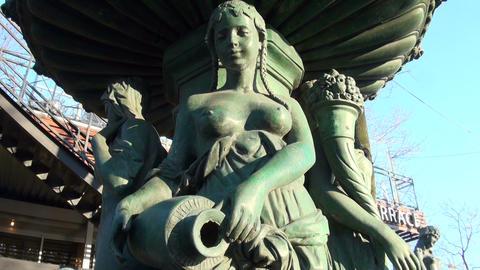 Bronze sculpture Stock Video Footage