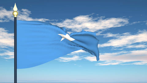 Flag Of Somalia Stock Video Footage